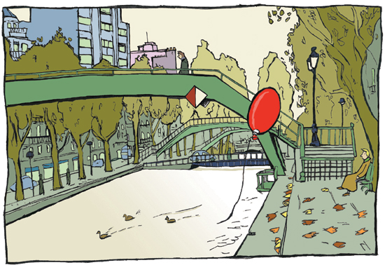 dessin canal saint martin paris