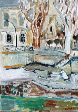 peinture quai louvre
