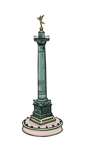 colonne de juillet dessin julien dugue
