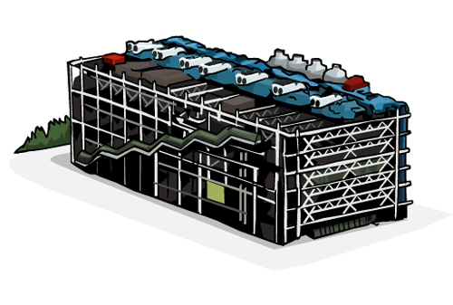 centre pompidou dessin