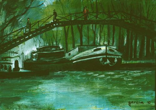 peinture canal saint martin paris