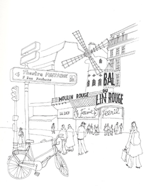 moulin rouge croquis
