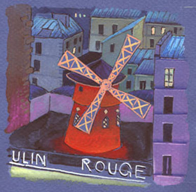 illustration moulin rouge