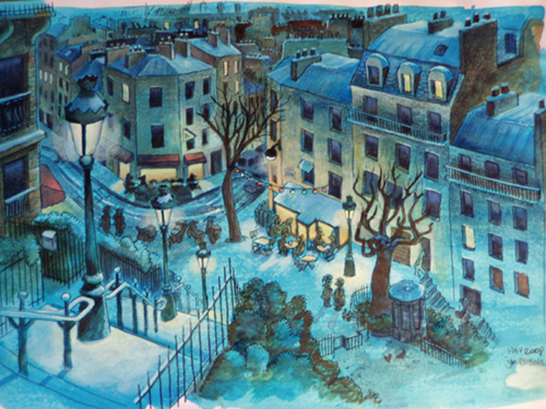 dessin rue utrillo paris