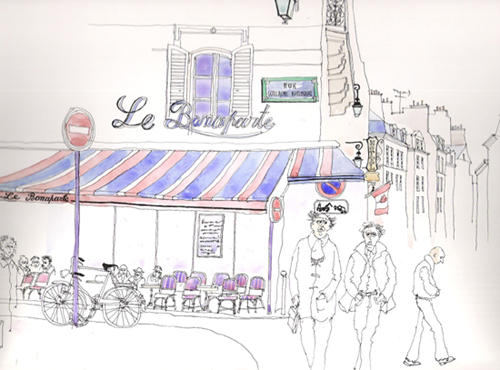 illustration café bonaparte