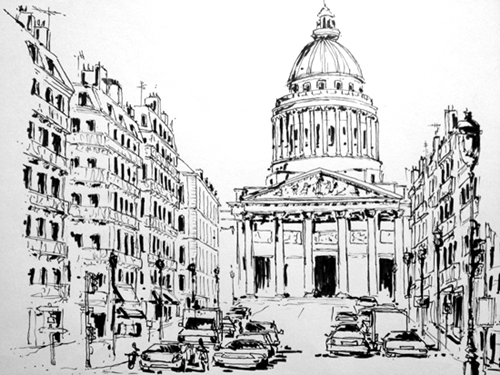 croquis pantheon