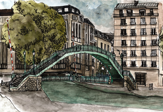 canal saint martin dessin