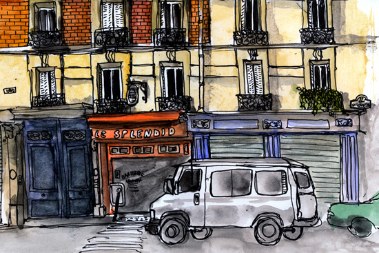 rue saint sebastien croquis