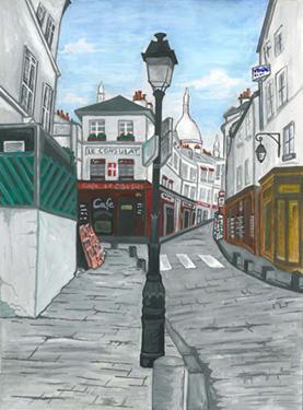 rue norvins peinture