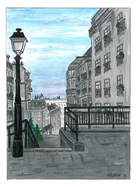 peinture escaliers montmartre