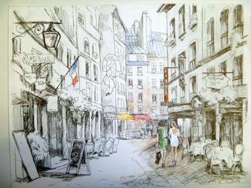 rue montorgueil peinture