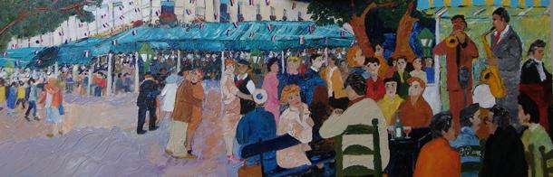 peinture deux magots paris
