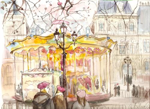dessin hotel ville paris