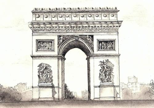 dessin arc triomphe
