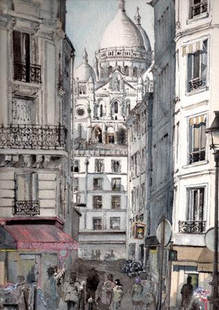 peinture sacre coeur rue briquet
