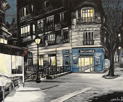 peinture rue montmartre