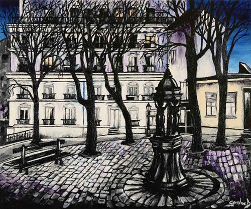 place emile goudeau peinture