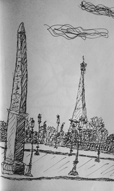 croquis obelisque concorde