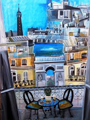 terrasse paris peinture