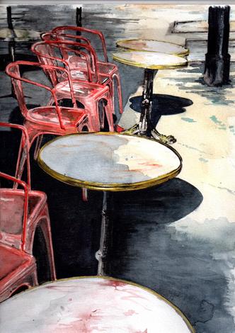 dessin cafe paris