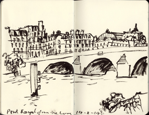 pont royal croquis