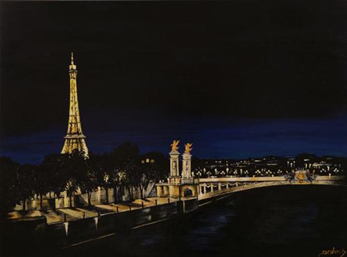 peinture pont alexandre
