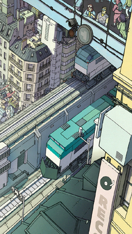 Illustration paris futur