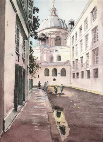 rue mazarine aquarelle