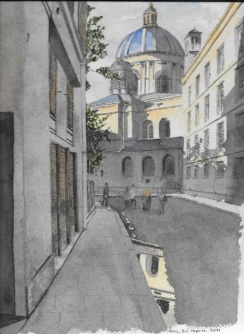 rue mazarine aquarelle catherine