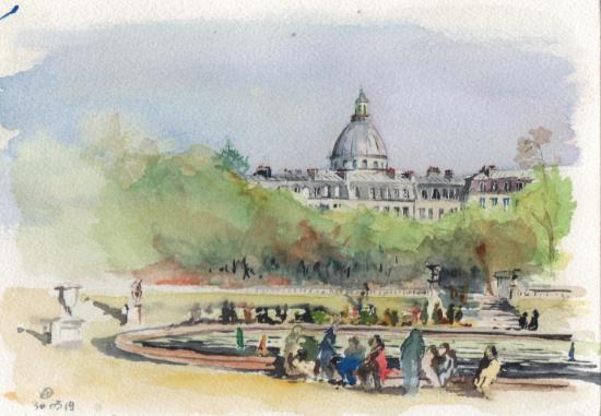 peinture jardin du luxembourg