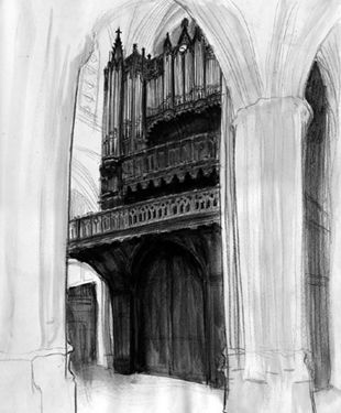 eglise Sainte Cecile dessin