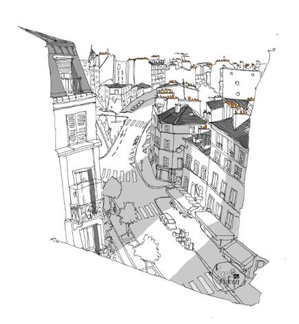 dessin rue des abbesses