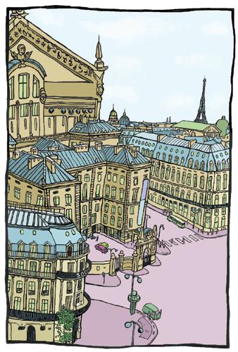 dessin opera paris